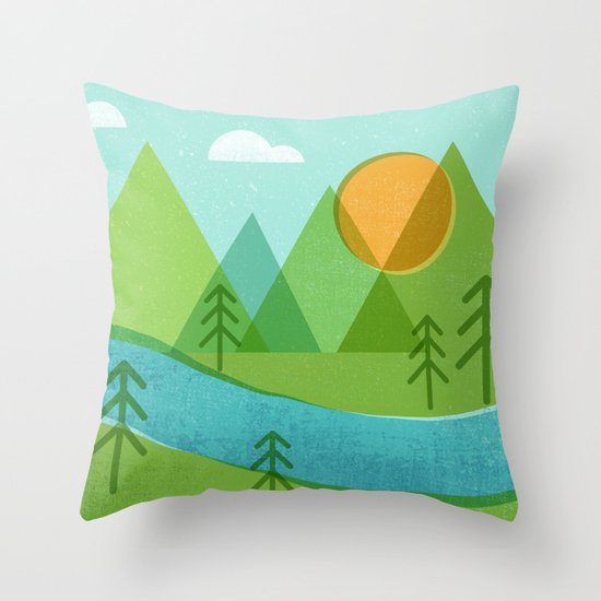 Roll On Columbia Throw Pillow