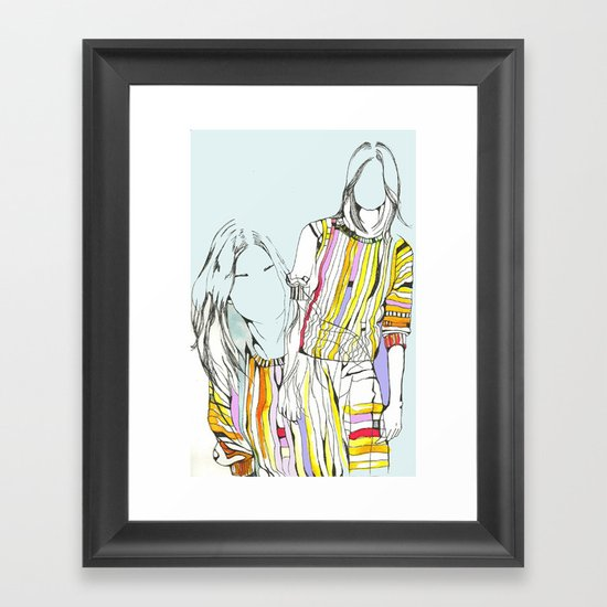 Pins Framed Art Print