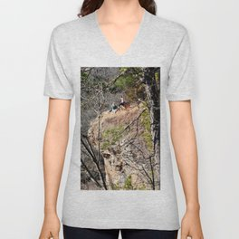 Climbing Up Sparrowhawk Mountain above the Illinois River, No. 4 of 8 Unisex V-Neck