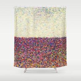 Speckly Rainbow Field Horizon Shower Curtain