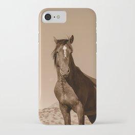 Wild_Horses Sepia 3501 - Nevada iPhone Case