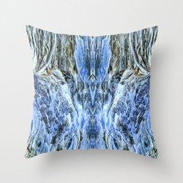 Winter Mountainous Landscape-4 Throw Pillow