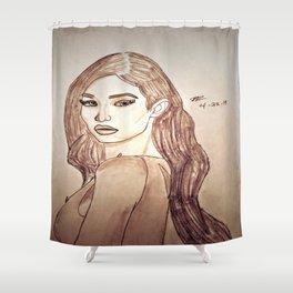 Gigi Hadid by Double R Shower Curtain
