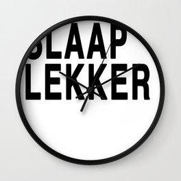 Slaap Lekker Wall Clock