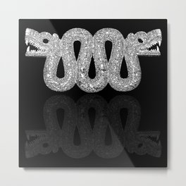 Double Headed Serpent-Cosmic Serpent-Aztec-mythological symbol-Mesoamerica Metal Print