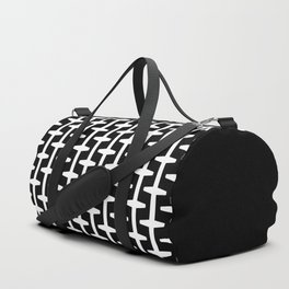 Geometric Pattern 207 (black white) Duffle Bag