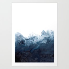 Indigo Depths No. 2 Art Print