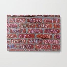 Love Bricks 2 Metal Print