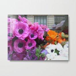Flower Shop Window Metal Print