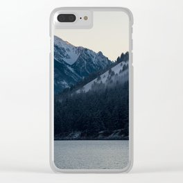 Last Light at Wallowa Lake Oregon Clear iPhone Case