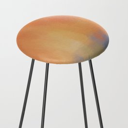 Abstract Landscape With Golden Lines Painting Counter Stool