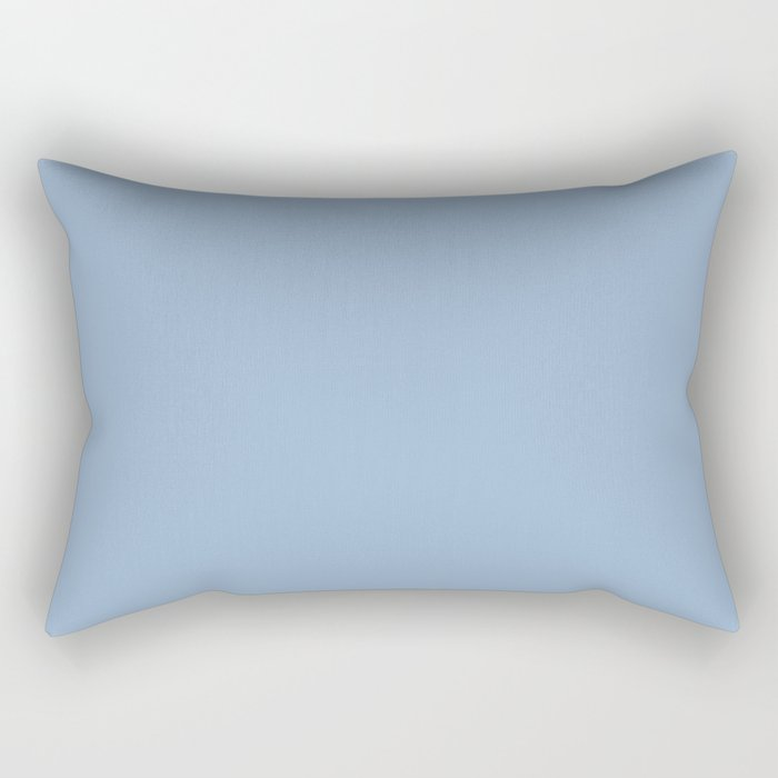 Sherwin Williams Trending Colors of 2019 Celestial (Pastel Blue) SW 6808 Solid Color Rectangular Pillow