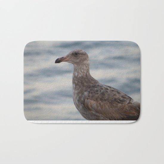 Young Gull in Malibu Bath Mat