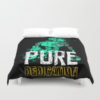 crossfit Duvet Covers featuring Pure Dedication by Wilson Ordonez