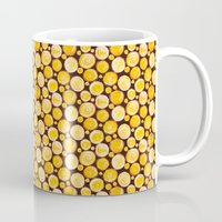 kansas Mugs featuring Kansas Pattern by Timone