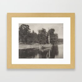 Peter Henry Emerson (1856-1936) River Bure at Coltishall, from Life and Landscape on the Norfolk Bro Framed Art Print