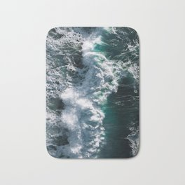 Crashing ocean waves - Ireland's seascapes at sunset Bath Mat
