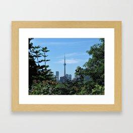 CN Tower from Casa Loma Framed Art Print