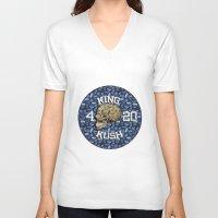 junk food V-neck T-shirts featuring junk skull by Martin Naydenov