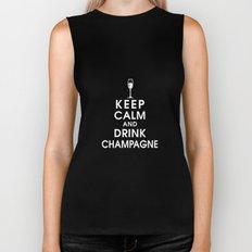 Keep Calm and Drink Champagne Biker Tank