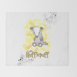 Hufflepuff - H a r r y P o t t e r inspired Throw Blanket