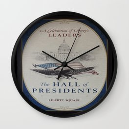 Hall of Presidents Wall Clock