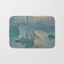 Claude Monet - Marine Sunrise, 1873 Bath Mat