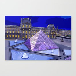 Louvre at Night Canvas Print