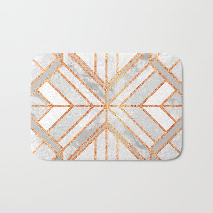 Geo Marble Dream Bath Mat by elisabethfredriksson