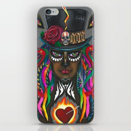 Sugar Black Rose iPhone Skin