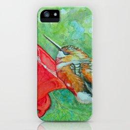 Sleeping Hummingbird iPhone Case