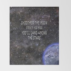 Shoot for the Moon Throw Blanket