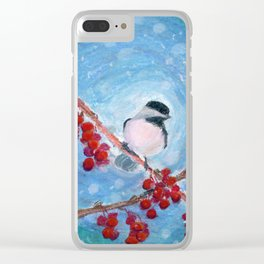 Little Chickadee Clear iPhone Case