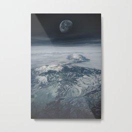 Moon Over Earth Metal Print