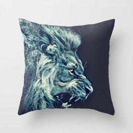 Water Lion Throw Pillow