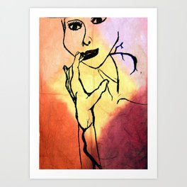 Touch Up Art Print