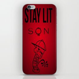 Stay Lit Son iPhone Skin