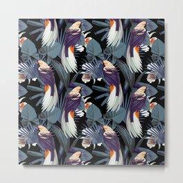 Chinese bird dark pattern Metal Print