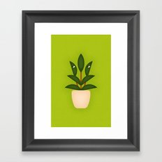 Leafy Plant Framed Art Print