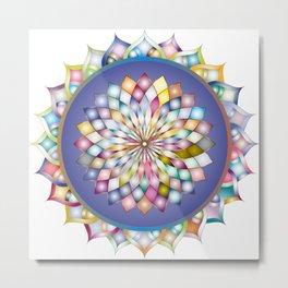 Prismatic Mandala Line Art Metal Print