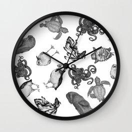 Sea Animals Pattern Wall Clock
