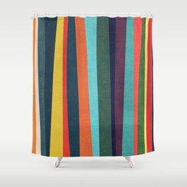 Mid-century zebra Shower Curtain