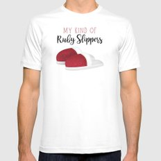 My Kind Of Ruby Slippers White MEDIUM Mens Fitted Tee