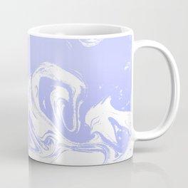 Suminagashi marble pastel blue minimal painting watercolor abstract Coffee Mug