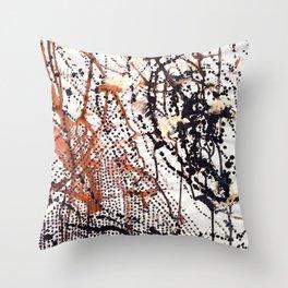 Printed splatter  Throw Pillow
