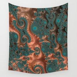 Copper Leaves - Fractal Art Wall Tapestry