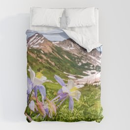 High Country Summer Wildflowers Crested Butte Colorado Mountain Landscape Comforters