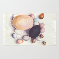 eggs Area & Throw Rugs featuring Eggs by Bridget Davidson