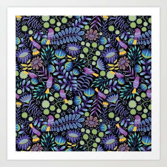 Thistle Garden - Dark Art Print