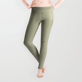 Drawing of marijuana leaves on neutral background Leggings